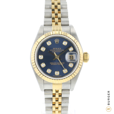 Rolex - Datejust 26 Steel/Gold Fluted Jubilee Blue Diamond Dial