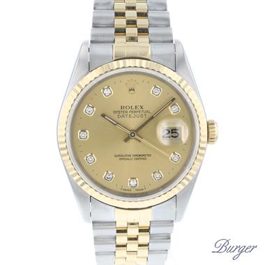Rolex - Datejust 36 Steel/Gold Jubilee Diamonds