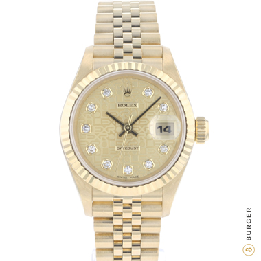 Rolex - Datejust 26 Lady Yellow Gold Jubilee Diamond Logo Dial