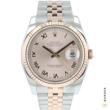 Rolex - Datejust 36 Steel Everose Gold / Fluted / Jubilee