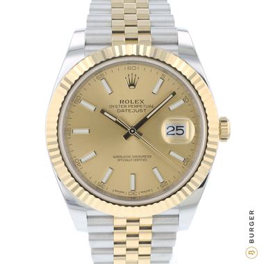 Rolex - Datejust 41 Gold/Steel Fluted Jubilee Champagne Dial