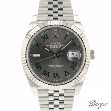 Rolex - Datejust 41 Fluted Jubilee Wimbledon Dial