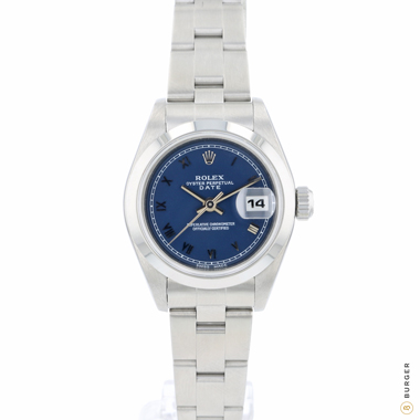 Rolex - Oyster perpetual Lady Date Blue Roman Dial