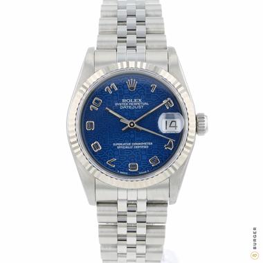 Rolex - Datejust 31 Midsize Blue Logo Dial Jubilee Fluted