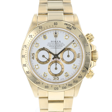 Rolex - Daytona Zenith Yellow Gold Diamonds