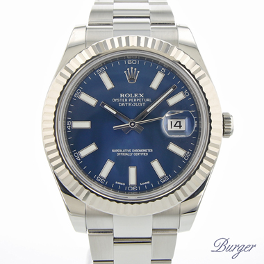 Rolex - Datejust II Blue Dial Fluted