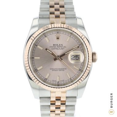 Rolex - Datejust 36 Steel Rose/Gold / Fluted / Jubilee