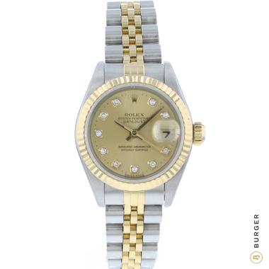 Rolex - Datejust 26 Gold/Steel Jubilee Fluted Diamonds