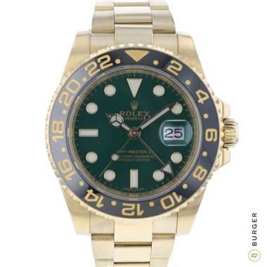 Rolex - Gmt-Master II LN 18K Yellow Gold Green Dial