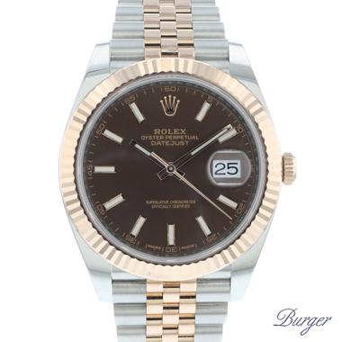 Rolex - Datejust 41 Steel Everose Gold Fluted Jubilee.