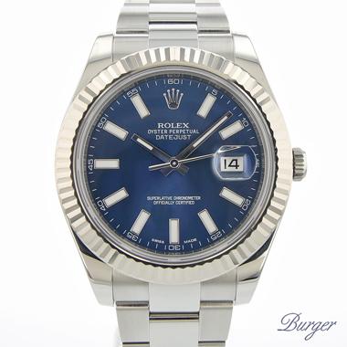 Rolex - Datejust II Fluted Blue
