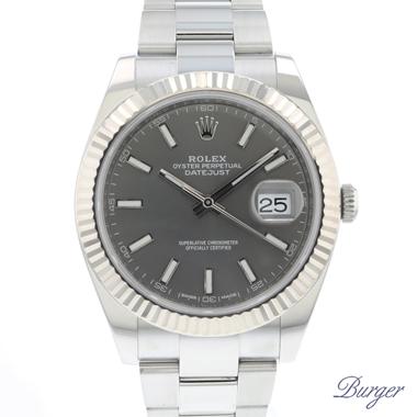 Rolex - Datejust 41 Fluted Oyster Dark Rhodium