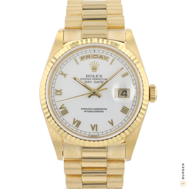 Rolex - Day-Date 36 Yellow Gold White Roman Dial