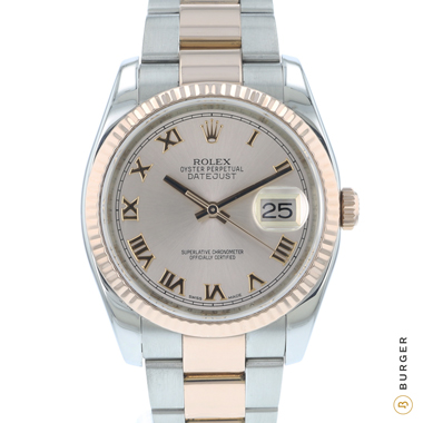 Rolex - Datejust 36 Steel Everose Gold / Fluted