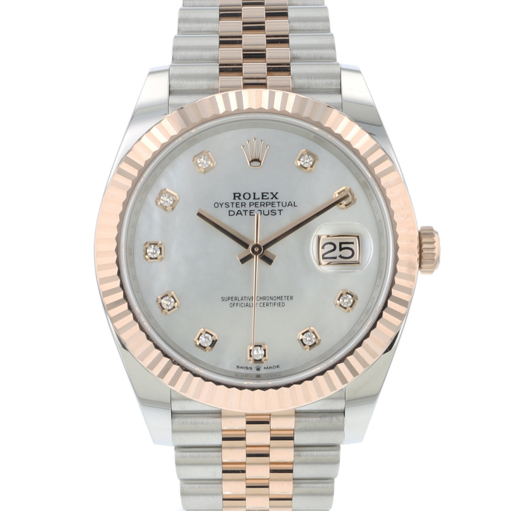 Rolex - Datejust 41 Steel/Everose Gold Fluted Jubilee Diamond MOP Dial NEW!