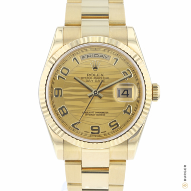 Rolex - Day-Date 36 Yellow Gold Wave Dial
