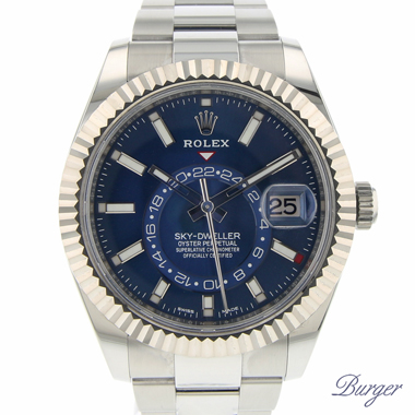 Rolex - Sky-Dweller Stainless Steel / White Gold / BLUE Dial NEW!!