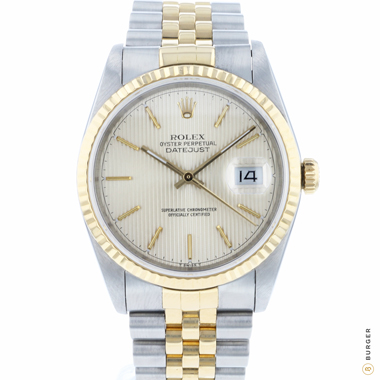 Rolex - Datejust 36 Steel/Gold Jubilee Fluted Tapestry Dial