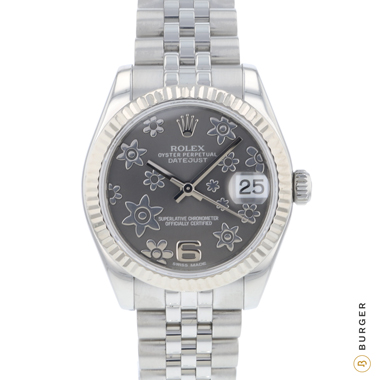 Rolex - Datejust 31 Stainless Steel Fluted / Jubilee Flower Dial