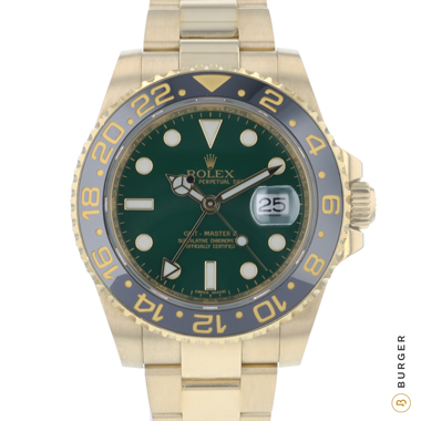 Rolex - Gmt-Master II LN 18K Yellow Gold Green Dial
