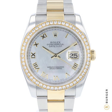 Rolex - Datejust Gold/Steel Diamond Bezel MOP Dial