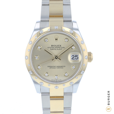 Rolex - Datejust 31 Midsize Gold / Steel Diamonds NEW!