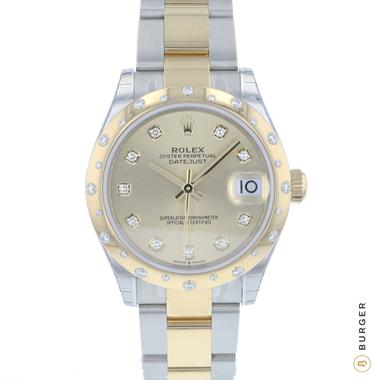 Rolex - Datejust 31 Midsize Gold / Steel Diamonds NEW In Stickers!