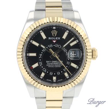 Rolex - Sky-Dweller Steel/Gold Black Dial