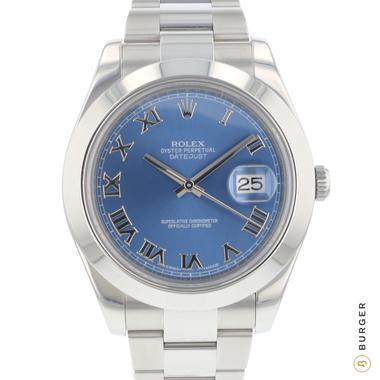 Rolex - Datejust II blue Roman