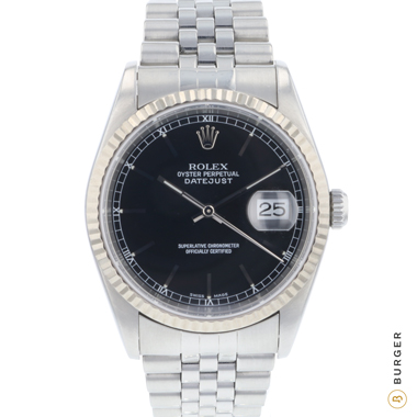 Rolex - Datejust 36 Jubilee Fluted Black Dial!
