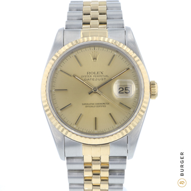 Rolex - Datejust 36 Steel/Gold Jubilee Fluted Full Set!
