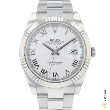 Rolex - Datejust 41 Fluted White Roman Dial NEW!
