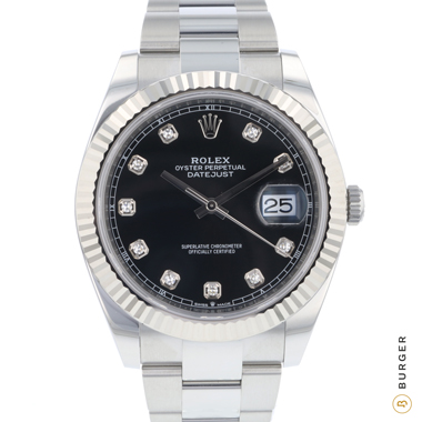 Rolex - Datejust 41 Steel Fluted Diamonds NEW!