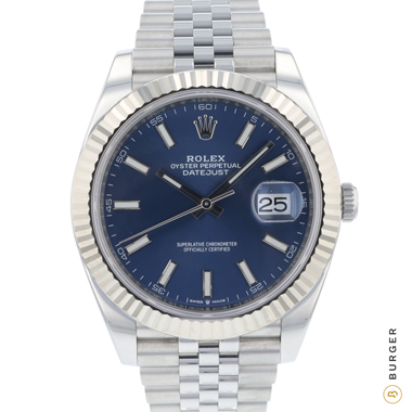 Rolex - Datejust 41 Fluted Jubilee Blue Dial