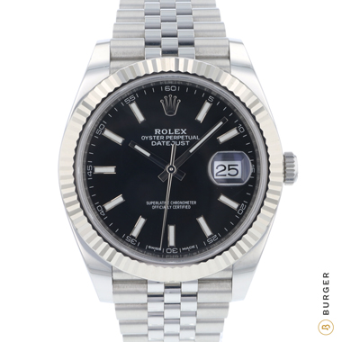 Rolex - Datejust 41 Fluted Jubilee Black Dial