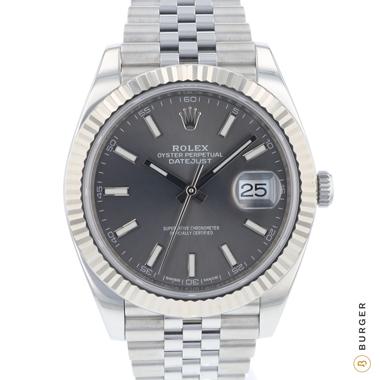 Rolex - Datejust 41 Fluted Jubilee Dark Rhodium Dial