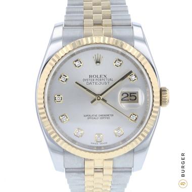 Rolex - Datejust 36 Steel Gold / Fluted / Jubilee Diamonds