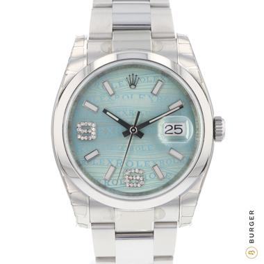 Rolex - Datejust 36 Ice Blue Diamonds NEW IN STICKERS!