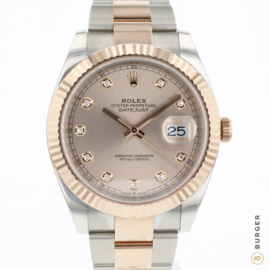 Rolex - Datejust 41 Rolesor Everose Fluted Diamond Dial