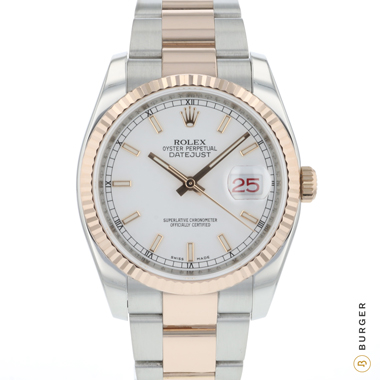 Rolex - Datejust 36 Steel / Everose Gold Fluted