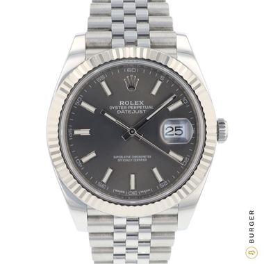 Rolex - Datejust 41 Fluted Jubilee Dark Rhodium