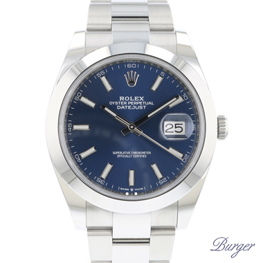 Rolex - Datejust 41 Oyster Blue Dial NEW!