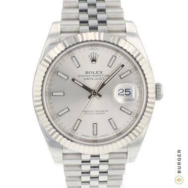 Rolex - Datejust 41 Fluted Jubilee Silver Dial NEW!