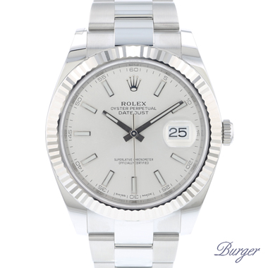 Rolex - Datejust 41 Fluted Oyster Silver Dial NEW!