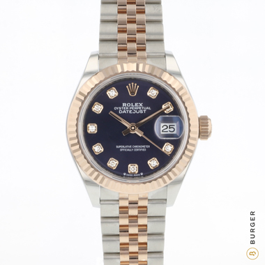Rolex - Datejust Lady 28 Steel Everose Gold Fluted Diamonds NEW!