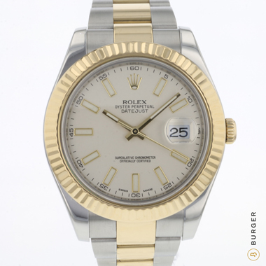 Rolex - Datejust II Steel/Gold Fluted Ivory Dial