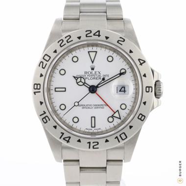 Rolex - Explorer II White Cal. 3186 Rehaut Engraving