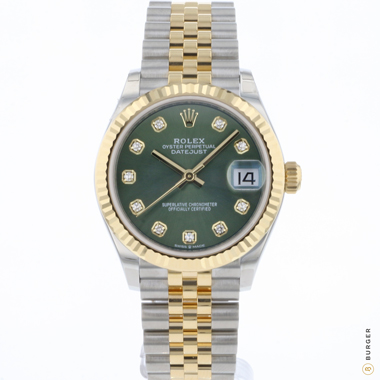 Rolex - Datejust 31 Steel Gold / Jubilee / Green Diamond Dial NEW!