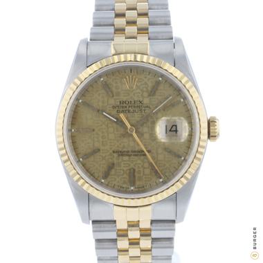 Rolex - Datejust 36 Jubilee Gold/Steel Logo Dial