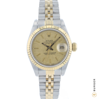 Rolex - Datejust 26 Lady Linen Dial Gold/Steel Jubilee Fluted